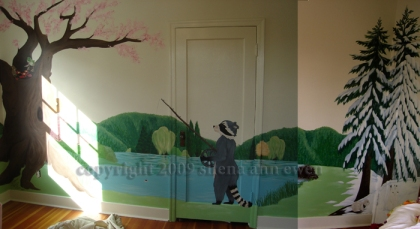 Mural four seasons room done moss campion gallery for 4 seasons mural